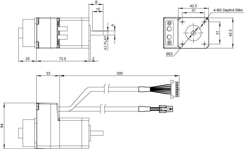 Driver Dimensions AM17SS-N Series