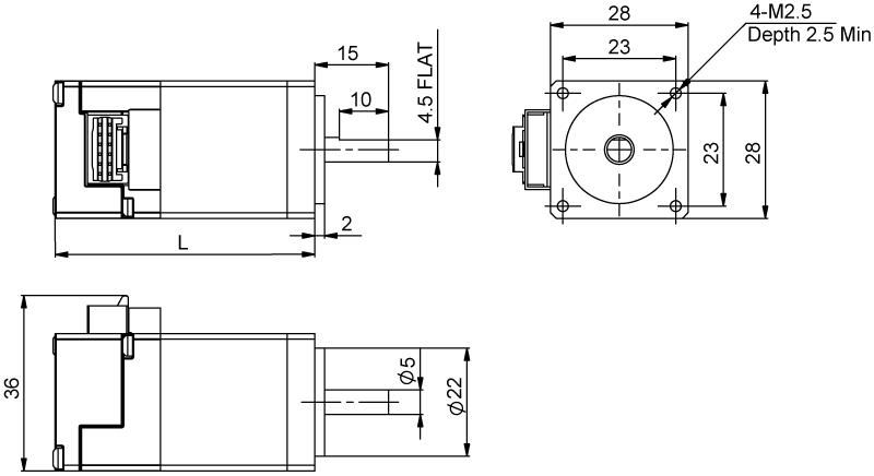Driver Dimensions AM11 Series