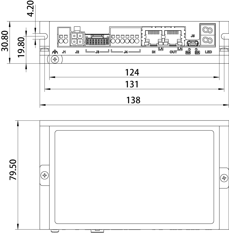 Driver Dimensions SSDC06-EC-H