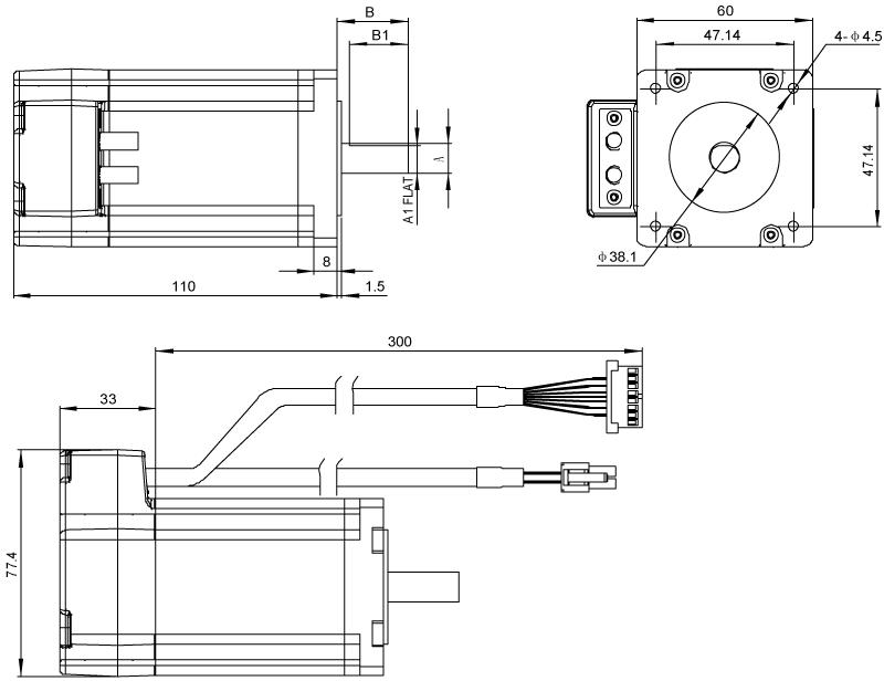 Driver Dimensions AM24 Series