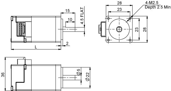 AM11RS series dimension