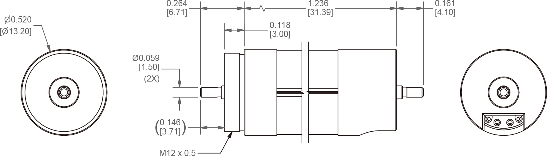 PT106 dimensions