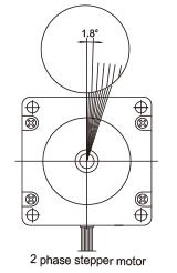 2 phase 1.8°stepper motor