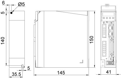 M2DV-1D82EC Drive Dimensions