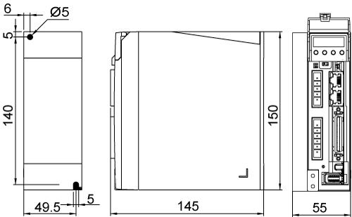 M2DV-3D2EC Drive Dimensions