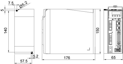 M2DV-4D52EC Drive Dimensions