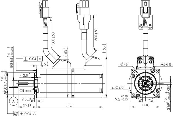 Frame 40mm Low Inertia Motor Without Brake