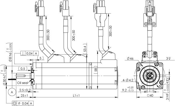 Frame 40mm Low Inertia Motor With Brake