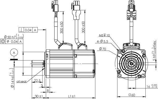 Frame 60mm Low Inertia Motor Without Brake