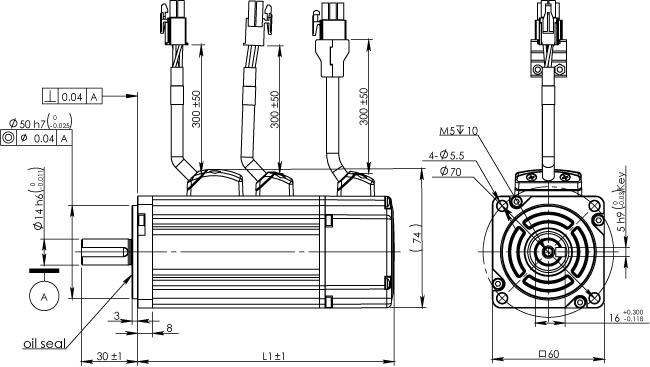 Frame 60mm Low Inertia Motor With Brake