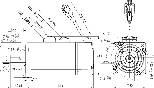 Frame 80mm Low Inertia Motor With Brake